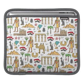 Farbsymbole von Ägypten-Muster iPad Sleeve