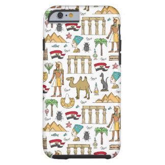 Farbsymbole von Ägypten-Muster Tough iPhone 6 Hülle