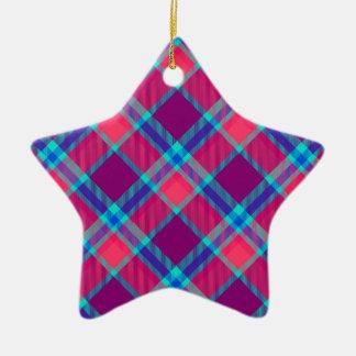 Farbtartanbeschaffenheit Keramik Stern-Ornament