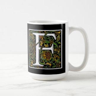 FarbTasse des Monogramm-F Kaffeetasse