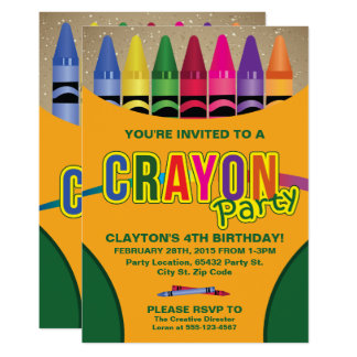 Farbton, Zeichenstift-Geburtstags-Party Karte