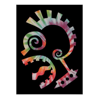 Färbungs-Krawatten-Punk Poster