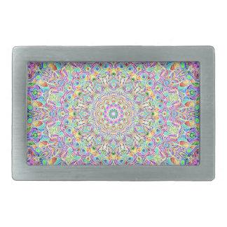 Farbversion Z der Mandala-7 Rechteckige Gürtelschnallen