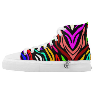 Farbwellen-hohe Spitzenturnschuhe Hoch-geschnittene Sneaker