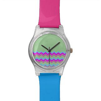 Farbwellen-Uhr Armbanduhr