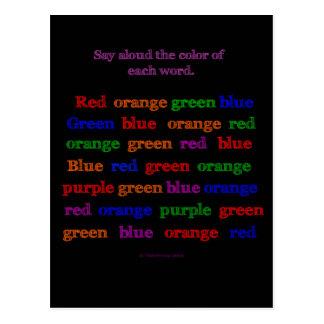 Farbwort-Illusion Postkarte
