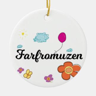 FarFrom Usen Logo Rundes Keramik Ornament