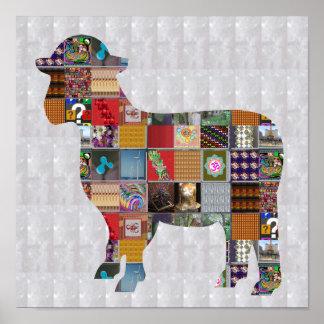 Farm der Tierewolle der SCHAFE SCHERZT SPASS Poster