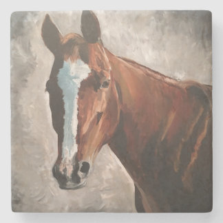 Farm House Ranch Sorrel Horse Marble Tile Coaster Steinuntersetzer