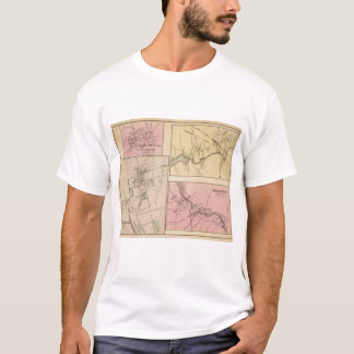 Farmington, Gorham, Yarmouth, Bridgton Karte T-Shirt