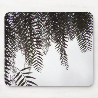 Farn-Baum-Blatt-Silhouette-Blätter Mousepad