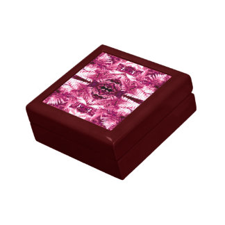 Farn-Blatt-rote Fraktal-Geschenkboxen rotes Geschenkbox