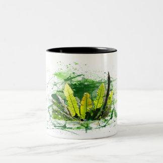 Farn, Blätter, Dschungel, Pflanzen, Natur Zweifarbige Tasse