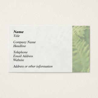 Farn-Blätter, hellgrün. Visitenkarte