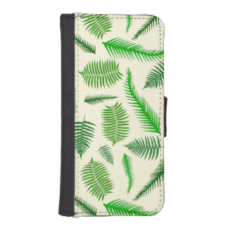 Farn-Pflanzen-Wedel verlässt Muster iPhone SE/5/5s Geldbeutel Hülle
