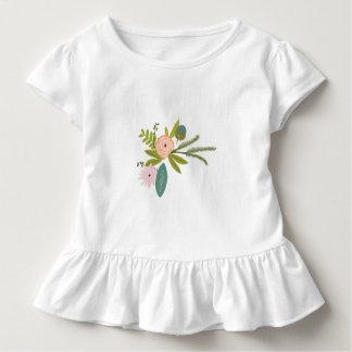Farn-Rosen-Eichel-Blumen-Mädchen-Hochzeits-Party Kleinkind T-shirt
