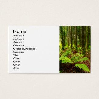 Farne im Wald Visitenkarte