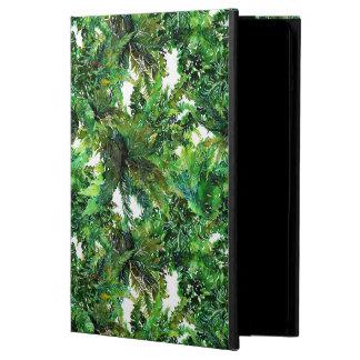 Farnwaldfallmuster des Aquarells grünes