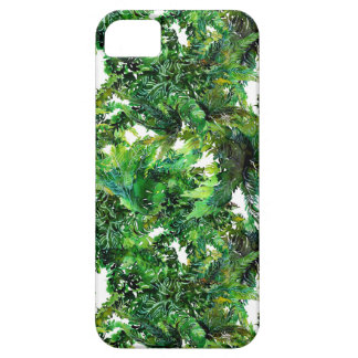 Farnwaldfallmuster des Aquarells grünes Etui Fürs iPhone 5