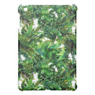Farnwaldfallmuster des Aquarells grünes iPad Mini Hülle