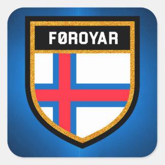 Färöer-Flagge Quadratischer Aufkleber