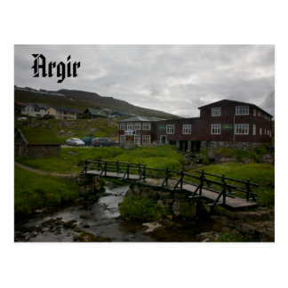 Faroese Dorf von Argir: Postkarte