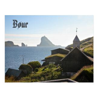 Faroese Dorf von Bøur: Postkarte