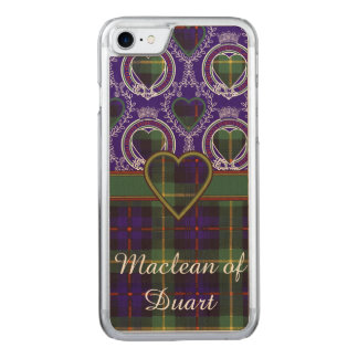 Farquarson Clan karierter schottischer Tartan Carved iPhone 8/7 Hülle