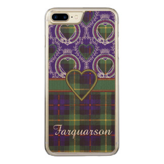 Farquarson Clan karierter schottischer Tartan Carved iPhone 8 Plus/7 Plus Hülle