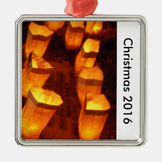 Farrolitos Weihnachten 2016 Silbernes Ornament