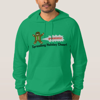 Farting Lebkuchen-Mann-Weihnachten-GRÜNHOODIE Hoodie