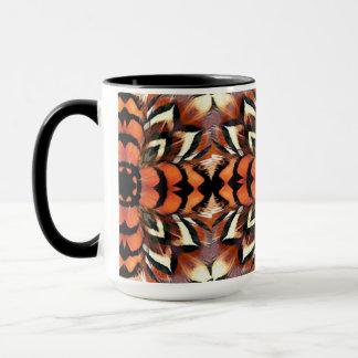 Fasan-Feder-Kaleidoskop Tasse