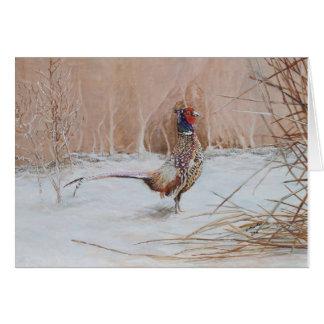 Fasan im Schnee Karte