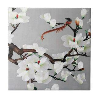 Fasan-und Birnen-Blüten Kleine Quadratische Fliese