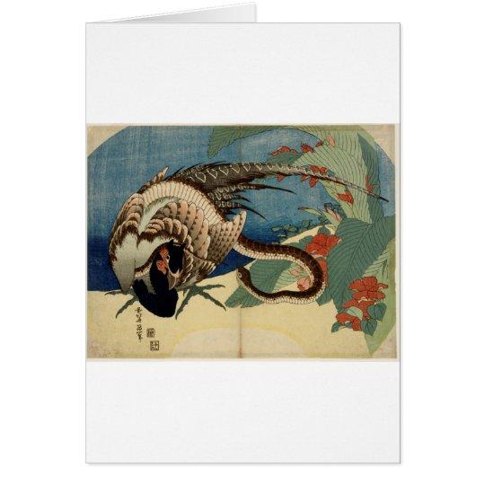 Fasan und die Schlange Grußkarte