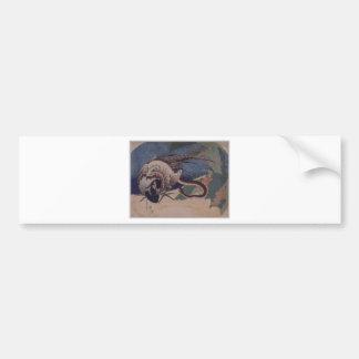 Fasan und Schlange durch Katsushika Hokusai Autoaufkleber