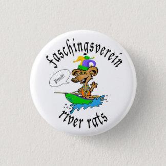 Faschingsverein Fluss-Ratte Runder Button 2,5 Cm