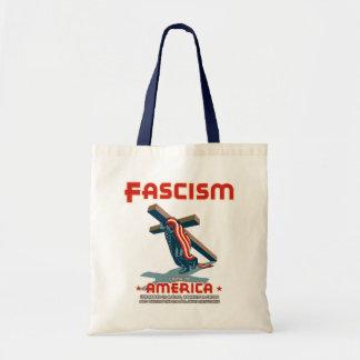 Faschismus kam eingewickelt tragetasche