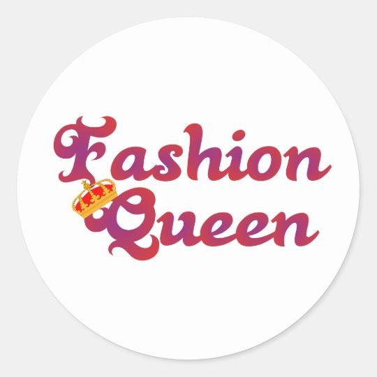 fashion Queen Runder Aufkleber