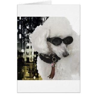 Fashionista-Pudel-Einkaufskarte Karte