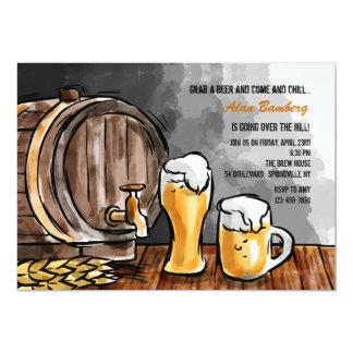 Fass der Bier-Einladung 12,7 X 17,8 Cm Einladungskarte