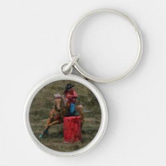 Fass-Laufen von Rodeo-Cowgirl-Designer #Gift Schlüsselanhänger