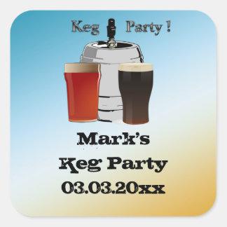 Fass-Party Einladungs-Bevorzugungsaufkleber Quadratischer Aufkleber