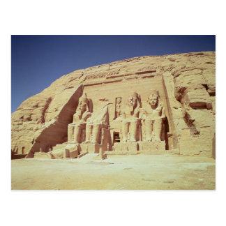 Fassade des Tempels von Ramesses II Postkarte