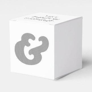 Fassbinder-mutige Kursivschrift-schwarze Flecken Geschenkschachtel