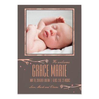 Fassbinderfrühlings-Blumen-Geburtsmitteilung 12,7 X 17,8 Cm Einladungskarte