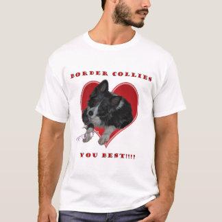 """Fassen Sie Collies """"WUF"""" Sie bestes T-Shirt"""