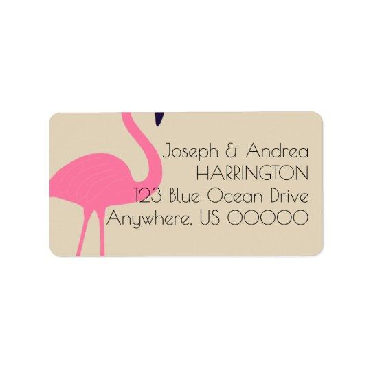 Fast Flamingo-Rücksendeadresse-Aufkleber Adressaufkleber