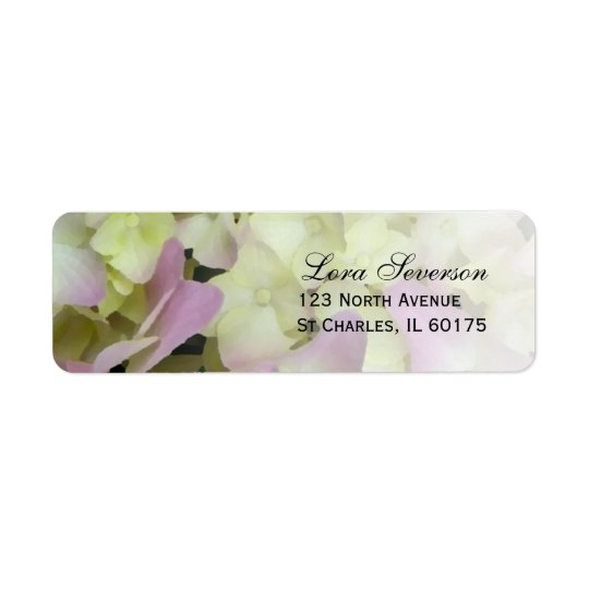 Fast rosa Hydrangea-Rücksendeadresse Rücksendeetiketten