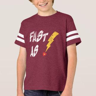 Fasten Sie, wie Blitz-Läufer grafisches T-Shirt